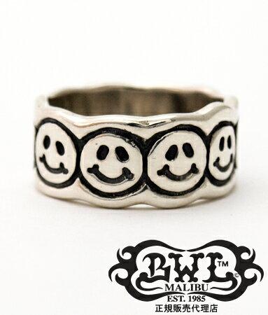 送料無料 BWL ビルウォールレザー Bill Wall Leather / シルバー925 リング 指輪 / ハッピー フェイス リング 【 メンズ レディース BWL指輪 シルバーアクセサリー おしゃれ 】