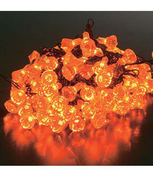 ★クリスマスツリー電飾 耐水100球LEDイエローダイヤモンドライト/常点灯(パワーコード付き) [PALI6991]
