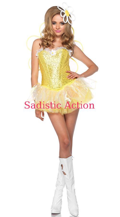 【即納】Leg Avenue Light Up Daisy Doll Costume 【Leg Avenue (ストッキング、ランジェリー、衣装、コスチューム、小物)】【ハロウィンコスチューム】【LEG-CO-85113】