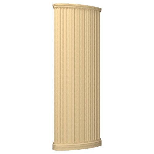 【NDP901】装飾柱 オーバルピューラ (受注生産品/送料別途見積)