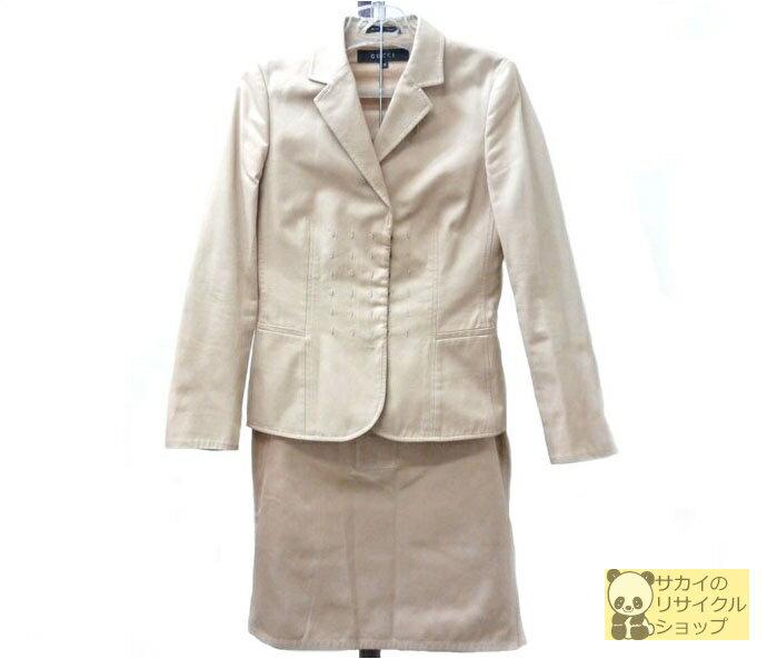 グッチ GUCCI セットアップ スーツ ジャケット スカート ベージュ 表記サイズ38【中古】