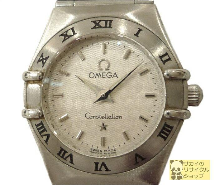オメガ OMEGA レディース腕時計 コンステレーションミニ SS クオーツ ホワイト文字盤【中古】