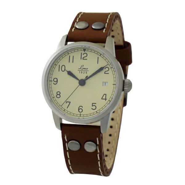 【あす楽】正規品【Laco ラコ】 「ドイツ製 パイロットウォッチ」 リアルミリタリー腕時計の復刻モデル【自動巻き】36mmケース ボーイズサイズ  861802マドリード