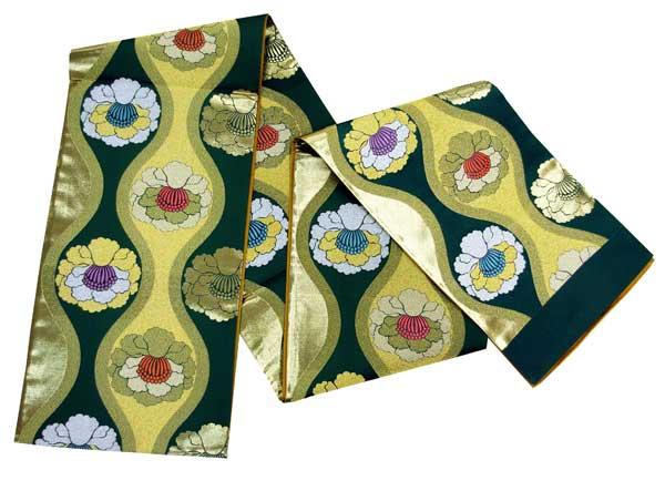 【全通袋帯】西陣高級袋帯 西陣織工業組合品質表示証紙No.308