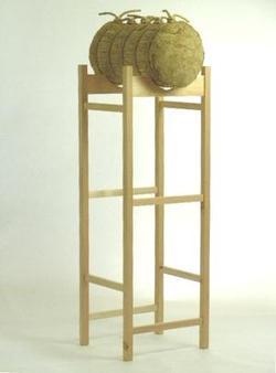 【弓道】【I-016】弓道 小型巻藁用木製台(こがたまきわらようもくせいだい)【RCP】