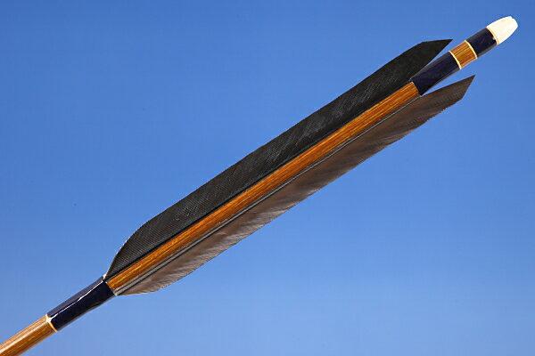 【弓道】【矢】【ネット限定価格】【D-1370】イーストンカーボン80-23 黒手羽 6本組【弓道用カーボン矢】【RCP】