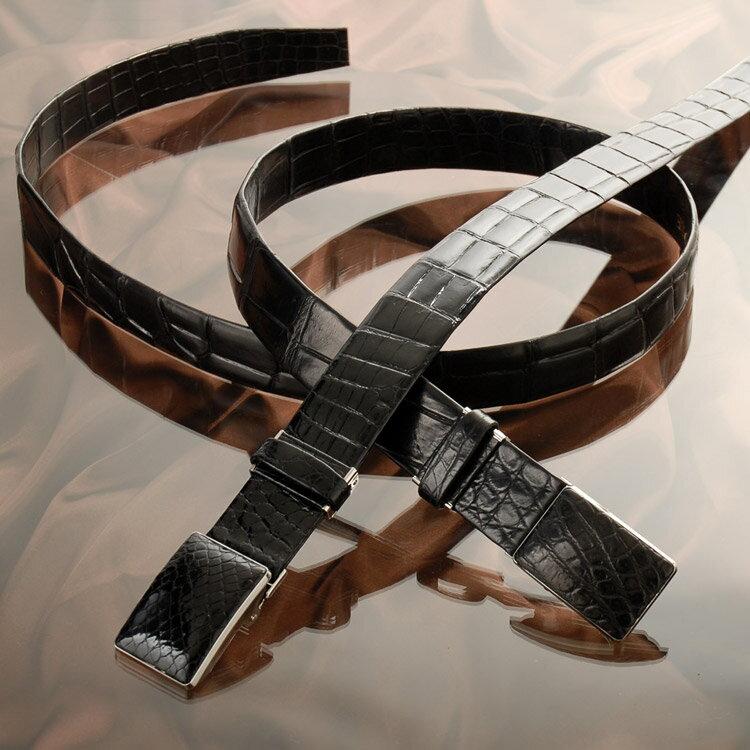 クロコダイル ベルト 本無双 ベルト バックルタイプ / メンズ 35mm 日本製 全長 130cm 長い おしゃれ 黒 茶色 ブラック 男 父親 プレゼント ギフト ビジネス 会社 スーツ