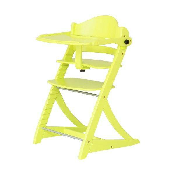 すくすくチェアEN 2504YG テーブル&ガード付 イエローグリーン色