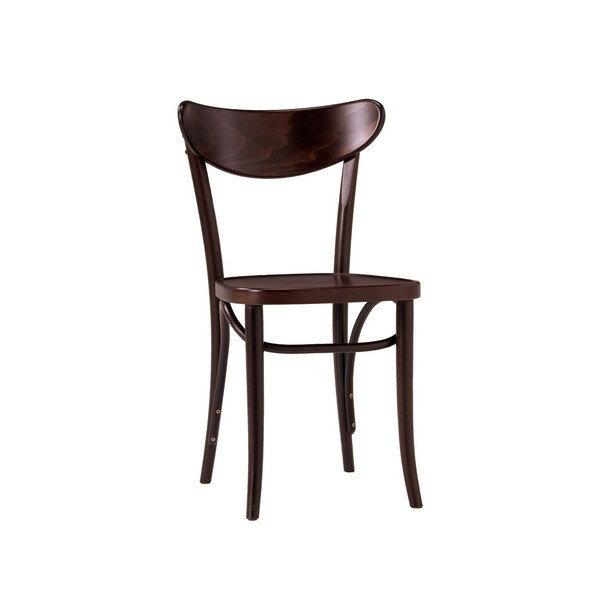 ダイニングチェア 伝統的な「曲げ木」技法で有名なTON社のチェコ製 曲げ木椅子 BCZ-8050-B ダークブラウン色