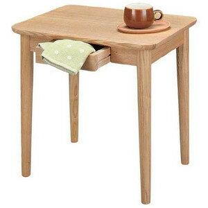 天然木長方形サイドテーブル 50センチ巾 ナチュラル色 組立式