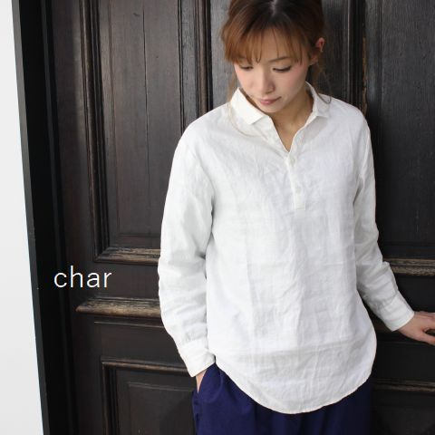 【クーポン対象外】 □□char(チャー)  リネンスキッパープルオーバーmade in japanch-103b465-a