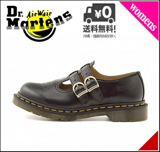 ドクターマーチン ダブルストラップ シューズ レディース ツイン ストラップ Tバー メリージェーン クッション性 カジュアル デイリー ストリート CORE 8065 TWIN STRAP T-BAR MARY JANE Dr.Martens 12916001 ブラック