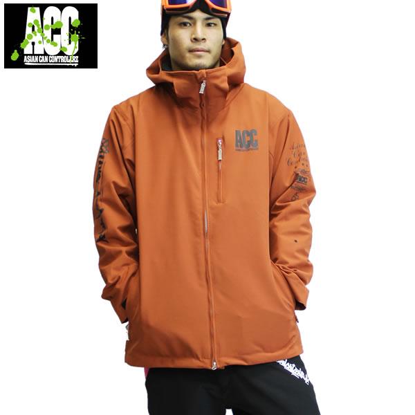17-18 ACC ジャケット ARTIST JKT (ルーズfit) : D.Orange 正規品/スノーボードウエア/ウェア/メンズ/snow