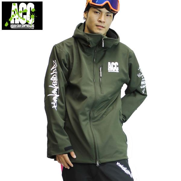 17-18 ACC ジャケット ARTIST JKT (ルーズfit) : Olive 正規品/スノーボードウエア/ウェア/メンズ/snow