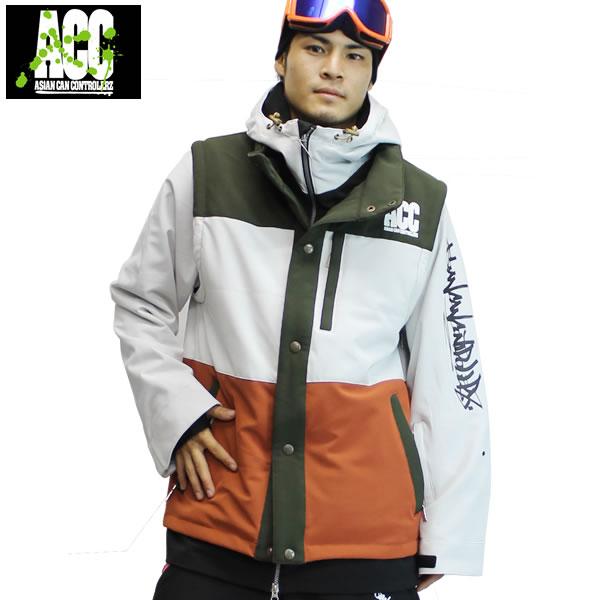 17-18 ACC ジャケット LAYERED JKT: Layered Mix 正規品/スノーボードウエア/ウェア/メンズ/snow