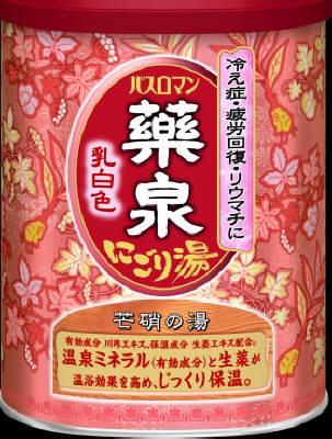 アース製薬  バスロマン 薬泉にごり湯 乳白色  650g×24個【送料無料】【入浴剤】