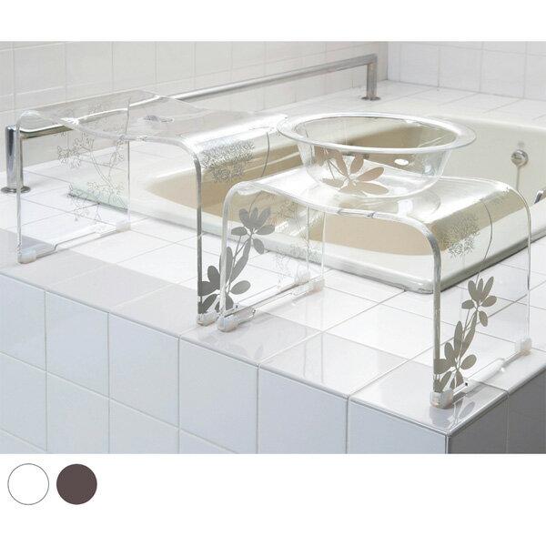 バスチェア サリナバスグッズYHW (zacca)( お風呂 椅子 クリア ナチュラル アクリル製 )