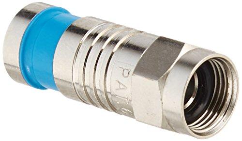 【送料無料】【RG6 QUADするOリングで41079圧縮F型コネクタに行くケーブル - 50PK】     b000o7apay