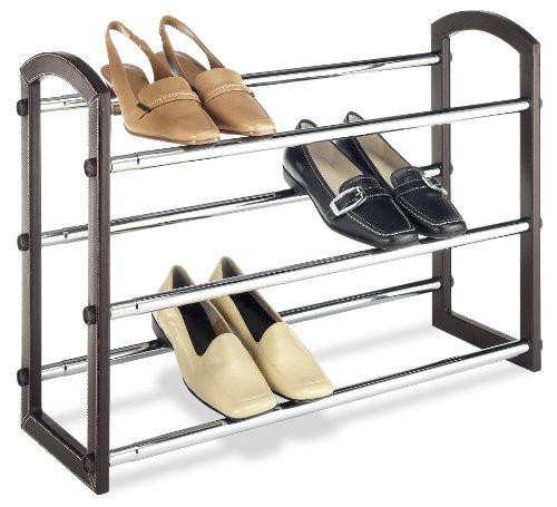 【送料無料】【Faux Leather Shoe Rack】