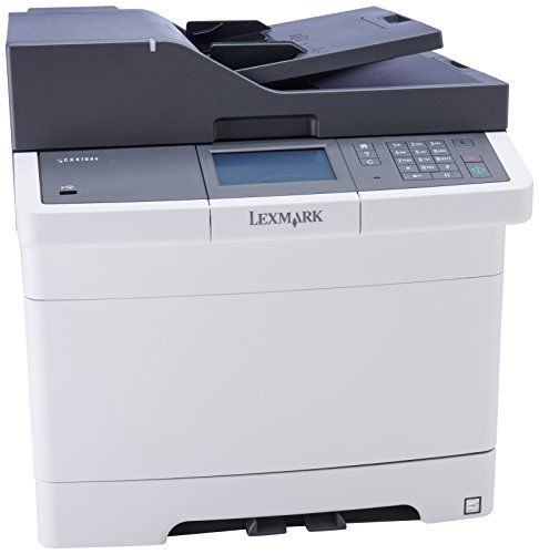 【Lexmark CX410de - Multifunction printer - color - laser - Legal (8.5 in x 14 in) (original) - Legal (media) - up to 32 ppm (copying) - up to 32 ppm (printing) - 250 sheets - 33.6 Kbps - USB】 Lexmark CX410de - Multifunction printer - color - laser - Leg