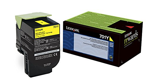 【Lexmark 701Y - Yellow - original - toner cartridge LCCP LRP - for Lexmark CS310dn CS310n CS410dn CS410dtn CS410n CS510de CS510dte】 Lexmark 701Y - Yellow - original - toner cartridge LCCP LRP - for Lexmark CS310dn CS310n CS410dn CS410dtn CS410n CS510de
