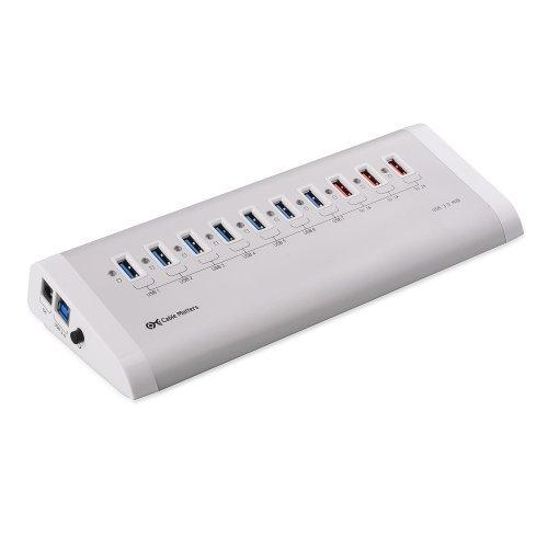 【送料無料】【Cable Matters ポリッシュドアルミニウム 超高速 USB 3.0 7 ポート + 3 USB 充電ポート搭載 バブ(ホワイト)】 Cable Matters ポリッシュドアルミニウム 超高速 USB 3.0 7 ポート + 3 USB 充電ポート搭載 バブ(ホワイト)    b00dmejpos