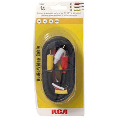 【送料無料】【RCA 6ft. Gold-Plated Stereo Audio/Video Cable】     b00005t3f4