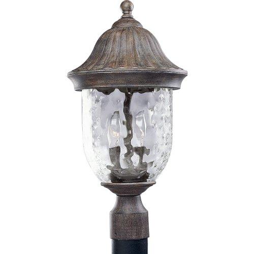 【送料無料】【Progress Lighting P5429-87 2-Light Post Lantern with Optic Hammered Clear Glass to Complement The New Fieldstone Finish  Fieldstone by Progress Lighting】     b000k2aqbg
