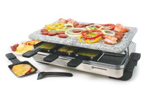 【送料無料】【スイス料理 スイスマー ラクレットグリル ラクレットオーブン 御影石付 Swissmar KF-77081 8-Person Raclette Party Grill [並行輸入品]】