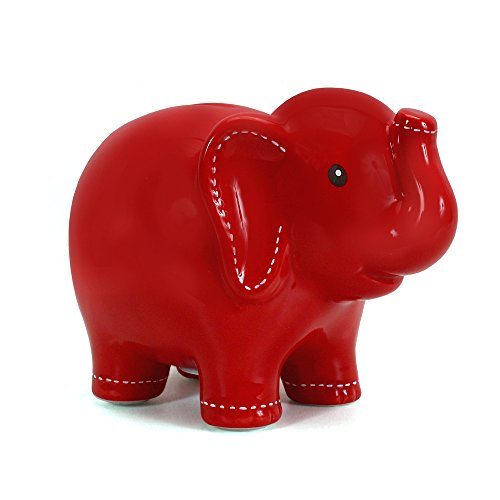 �Child to Cherish Large Stitched Elephant Bank  Red by Child to Cherish】     b0029do606