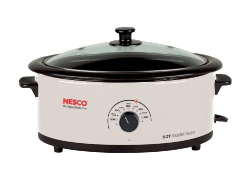【送料無料】【Nesco 4816-14G-30 6-Quart Roaster Oven with Glass Lid  Non-Stick Cookwell  Ivory by Nesco】     b003i4f78u