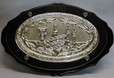 【送料無料】【Challah Board Oval Wood and Silver Plated】     b003bqvhrk
