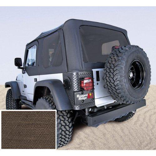 【送料無料】【Rugged Ridge 13710.36 Soft Top #44; Khaki #44; Tinted Windows #44; 03-06 Jeep Wrangler TJ】     b00390vf8y