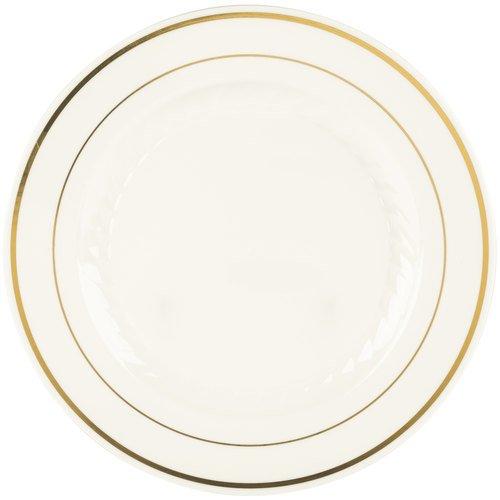 【送料無料】【9 Inch Silver Splendor Bone with Gold Band Plate - 120 per case by Fineline settings】     b005hj0l76