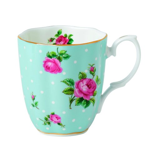 【送料無料】【Royal Albert Vintage Mug-Polka Blue by Royal Albert】     b00h3bvg6g