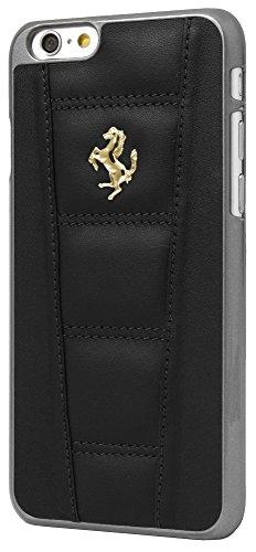 【送料無料】【Ferrari 458 Black Real Genuine Leather Hard Case w/ Gold Emblem for iPhone 6 by CG Mobile】     b00p0kfqmw