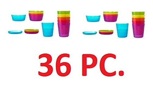 【送料無料】【IKEAKALAS Children Color Bowl  Tumbler and Plate Sets X12 Each (Set of 36) by IKEA】     b00lncsjei