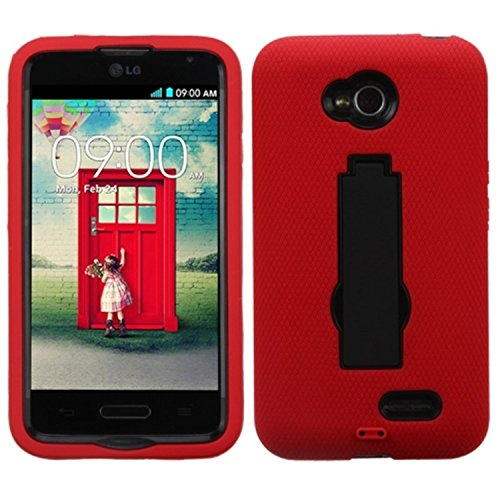 【MyBat Symbiosis Stand Protector Cover for LG Optimus Exceed - Retail Packaging - Black/Red by MyBat】     b00kfw8gqs