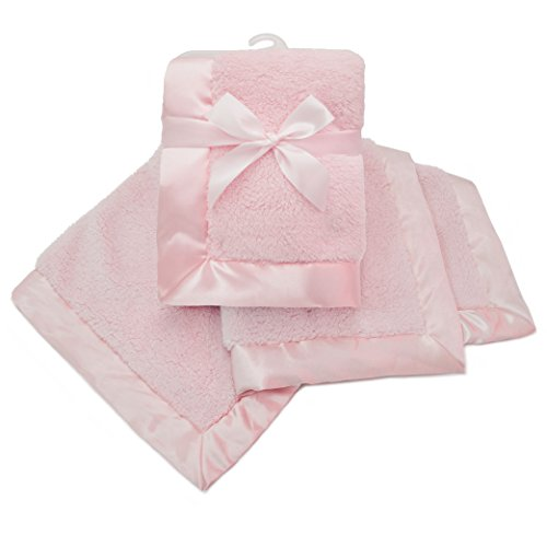 �American Baby Company Sherpa Receiving Blanket  Pink by American Baby Company】     b00yjhnke8