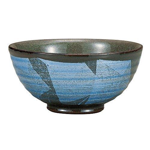 【九谷焼 ご飯茶碗 銀彩(青)】     b00yp6aw30