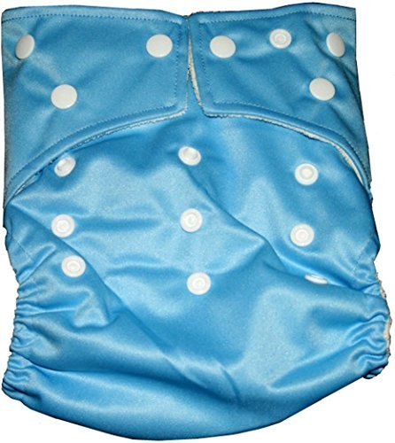 �BB2 One Size Solid Color Bamboo Pocket Snaps Cloth Diaper/ Nappy Inserts (One Size  Sky Blue) by BB2】     b00xiqbq0g