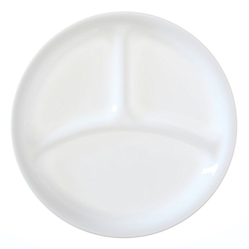 【送料無料】【Corelle Livingware Winter Frost White 8.5 Divided Lunch Plate (Set of 4) by Corelle Coordinates】     b010u9l7f2