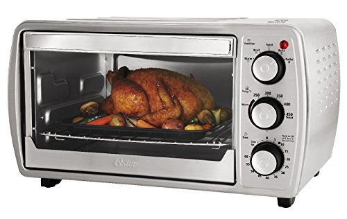 【送料無料】【Oster TSSTTVCG02 Oster 6 Slice Convection Toaster Oven with Integrated Broil Rack  Brushed Stainless Steel by Oster】     b0106mzcyk