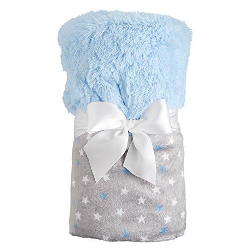 【Mud Pie Minkie Blanket Infant Nursery  Twinkle Star Gray and Blue by Mud Pie】     b01dcupr1g