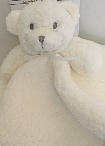 【Blankets   Beyond Fuzzy Off White Bear Security Blanket by Blankets and Beyond】     b01etv7agm
