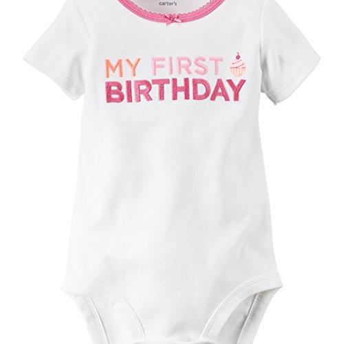 【カーターズ Carter's ロンパース ボディスーツ 半袖 綿100% Baby's First Birthday Bodysuit 12M (72-78cm)】     b0194m4oqa