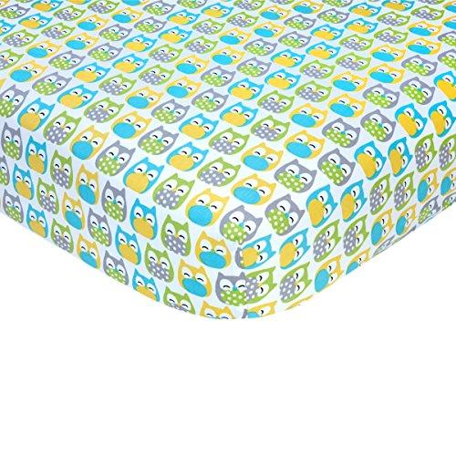 【Carter's Sateen Crib Sheet  Owl Print  One Size by Carter's】     b01ec0g70a
