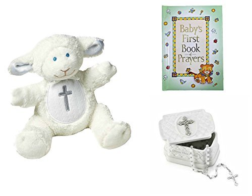 【Baby Christening Baptism Gift Set - Keepsake Box Rosary Lamb and Book of Prayers by Heartfelt Gifts】     b01lvu4ast