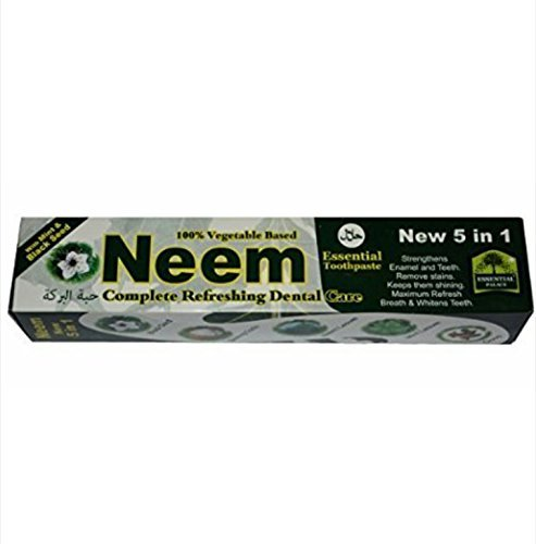 【Neem Essential Toothpaste New 5 in 1 100% Fluoride Free by Neem】     b01lk459xm