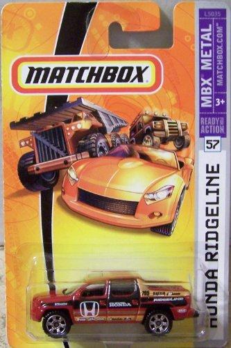 【Mattel Matchbox 2007 MBX Metal 1:64 Scale Die Cast Car # 57 - Red Pick-Up Honda Ridgeline】     b000xolcau